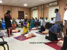 Image of CPR class by jipmer doctor